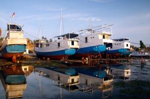 Peahu nelayan Rajuni, Kepulauan Takabonerate, Sulawesi Selatan.
